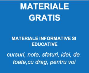 Materiale GRATIS